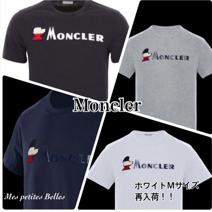 MONCLER More T-Shirts Plain Cotton Short Sleeves T-Shirts