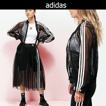 adidas Stripes Casual Style Street Style Medium Jackets