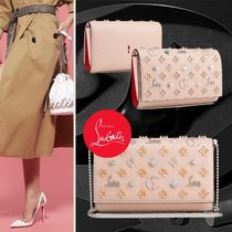 Christian Louboutin Paloma 2WAY Leather With Jewels Clutches
