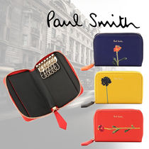 Paul Smith Flower Patterns Leather Keychains & Bag Charms