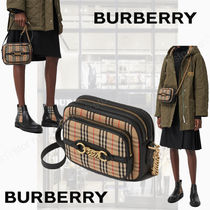 Burberry Other Check Patterns Calfskin Shoulder Bags