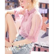 ELF SACK Star Puff Sleeves Shirts & Blouses