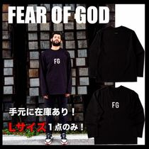 FEAR OF GOD Crew Neck Street Style Collaboration Long Sleeves Cotton