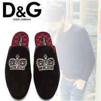Dolce & Gabbana Plain Toe Sheepskin Blended Fabrics Loafers & Slip-ons