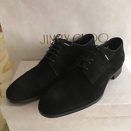 Wing Tip Suede Plain Oxfords