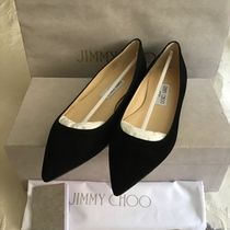 Jimmy Choo Suede Plain Office Style Slip-On Shoes