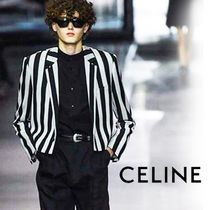 CELINE Short Stripes Unisex Wool Blended Fabrics Jackets