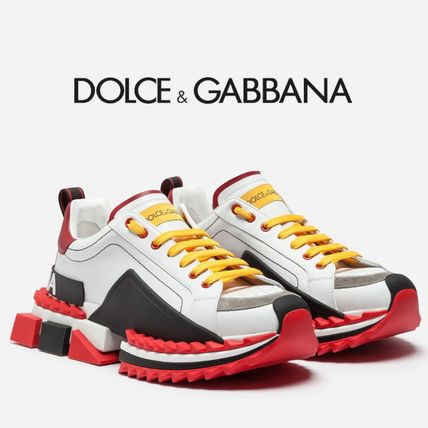 innovative design efc33 7211c Dolce & Gabbana 2019 SS Street Style Bi-color Leather Sneakers  (CS1587AK239HWF57)