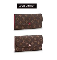 Louis Vuitton PORTEFEUILLE EMILIE Leather Long Wallets
