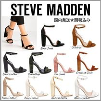 Steve Madden Open Toe Platform Casual Style Faux Fur Blended Fabrics