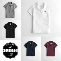 Hollister Co. Unisex Street Style Plain Polo Shirts