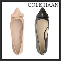 Cole Haan Plain Leather Office Style Slip-On Shoes