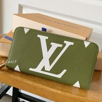 Louis Vuitton ZIPPY WALLET Monogram Unisex Canvas Blended Fabrics Bi-color Long Wallets