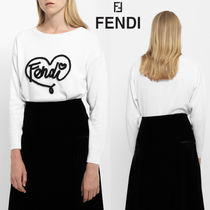 FENDI Heart Cashmere Long Sleeves Cashmere