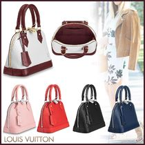 Louis Vuitton ALMA Blended Fabrics 2WAY Bi-color Plain Leather Elegant Style