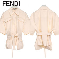 FENDI Cotton Medium Short Sleeves Shirts & Blouses