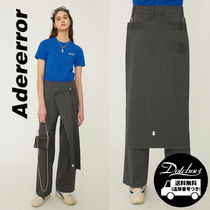ADERERROR Stripes Casual Style Unisex Street Style Cotton Long