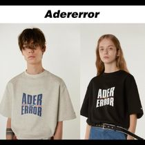 ADERERROR Crew Neck Pullovers Unisex Street Style Cotton Short Sleeves