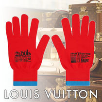 Louis Vuitton Street Style Bi-color Gloves Gloves