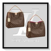 Louis Vuitton Monogram Canvas Blended Fabrics A4 Office Style Oversized