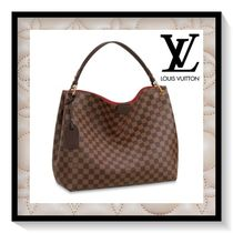Louis Vuitton Other Check Patterns Canvas Blended Fabrics A4 Office Style