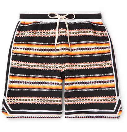Printed Pants Stripes Street Style Cotton Shorts