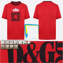 Dolce & Gabbana Crew Neck Plain Cotton Short Sleeves Crew Neck T-Shirts