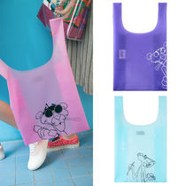 STEREO VINYLS COLLECTION Unisex Street Style Collaboration A4 Plain PVC Clothing Bags