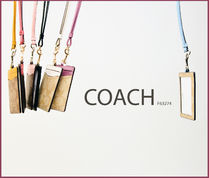 Coach SIGNATURE Flower Patterns PVC Clothing Card Holders