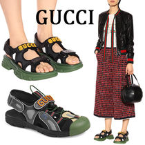 GUCCI Blended Fabrics Sandals