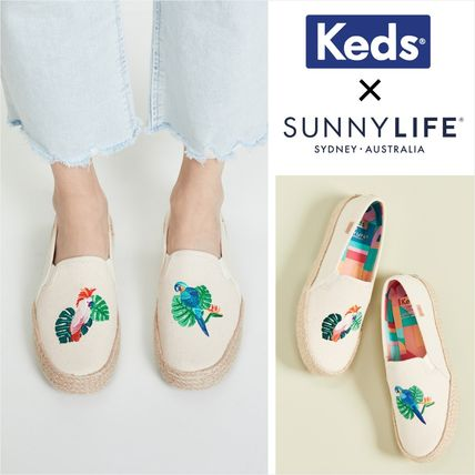 Casual Style Other Animal Patterns Low-Top Sneakers