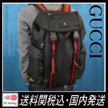 GUCCI Leather Backpacks