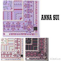 ANNA SUI Flower Patterns Handkerchief