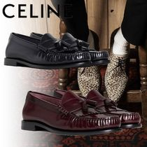 CELINE Tassel Plain Leather Bold Oxfords