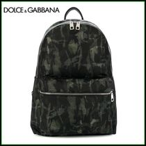 Dolce & Gabbana Camouflage Casual Style Unisex A4 Backpacks