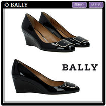 BALLY Leather Elegant Style Wedge Pumps & Mules