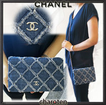 CHANEL CHAIN WALLET Casual Style 3WAY Chain Plain Shoulder Bags