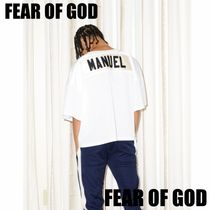FEAR OF GOD ESSENTIALS Street Style U-Neck Collaboration Short Sleeves T-Shirts