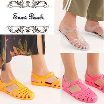 Free People Casual Style Plain PVC Clothing Flat Sandals