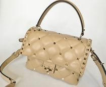 VALENTINO Plain Leather Handbags