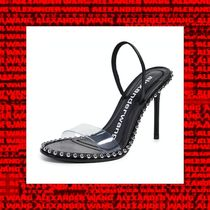 Alexander Wang Open Toe Studded Street Style Leather Pin Heels Party Style