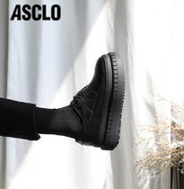 ASCLO Plain Leather Shoes