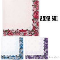 ANNA SUI Flower Patterns Cotton Handkerchief