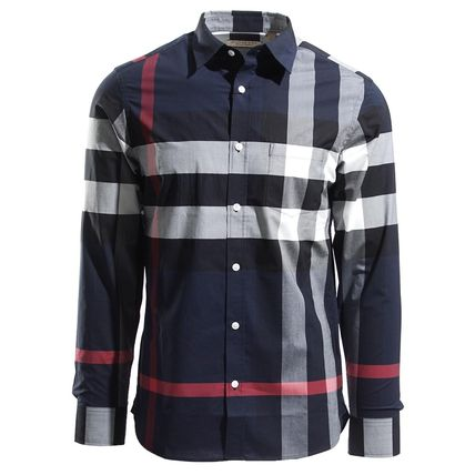 Burberry Shirts Long Sleeves Cotton Shirts