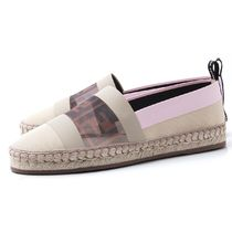 FENDI Rubber Sole Casual Style Leather Slip-On Shoes