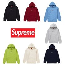Supreme Pullovers Unisex Sweat Street Style Long Sleeves Plain