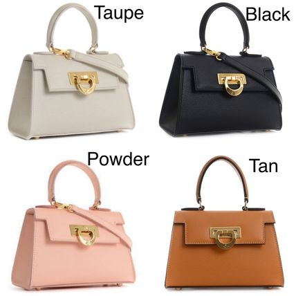 CARBOTTI 2WAY Plain Leather Handbags