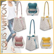 Louis Vuitton NEONOE Other Check Patterns Canvas Blended Fabrics 2WAY Bi-color