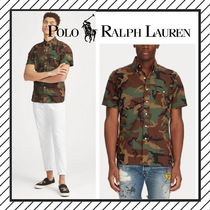 POLO RALPH LAUREN Camouflage Street Style Cotton Short Sleeves Shirts