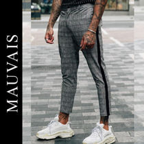 Other Check Patterns Street Style Cropped Pants